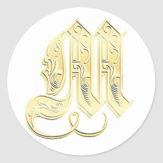 M Monogram stickers