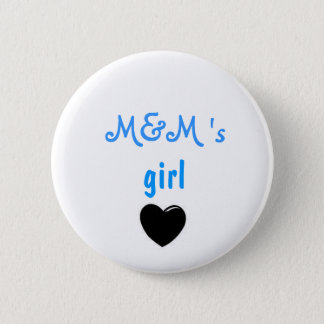 M&M's girl Button