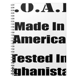M.O.A.B. Made In America Tested In Afghanistan Blk Notebook