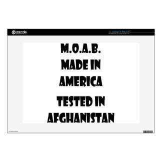 """M.O.A.B. Made In America Tested In Afghanistan Decals For 15"""" Laptops"""