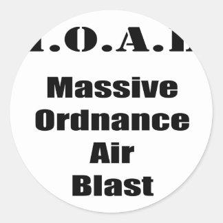 M.O.A.B. MOAB  Massive Ordnance Air Blast Tee Classic Round Sticker