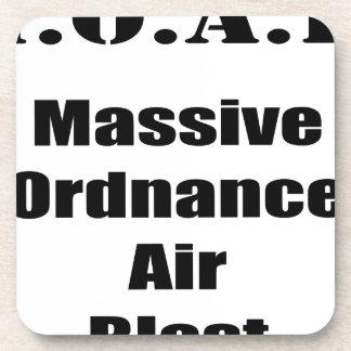 M.O.A.B. MOAB  Massive Ordnance Air Blast Tee Drink Coaster