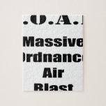 M.O.A.B. MOAB  Massive Ordnance Air Blast Tee Jigsaw Puzzle