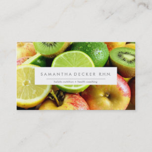 Nutrition business cards templates zazzle m o d e r n nutrition health business card colourmoves