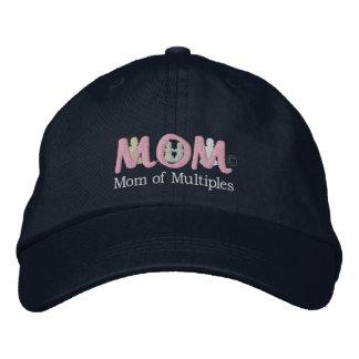 M-O-M4 [más los gemelos] (Sub-Drk) Gorras De Béisbol Bordadas