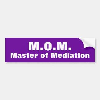 M.O.M. Master of Mediation Bumper Sticker