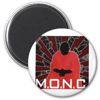 M.O.N.C. Logotipo Imán Redondo 5 Cm