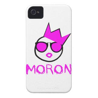 M.O.R.O.N. Pink & White iphone 4 Case