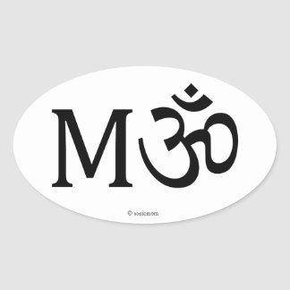 M-OM, Yoga Mom, oval sticker