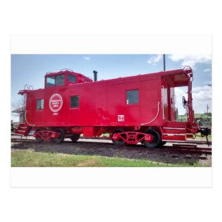 M.P. Railroad Caboose Postcard