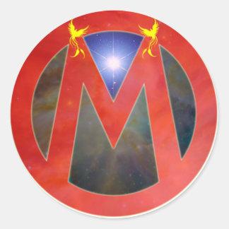 ¡(m) para el movimiento! pegatina redonda