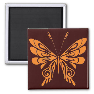 M.S. Butterfly 2 Inch Square Magnet