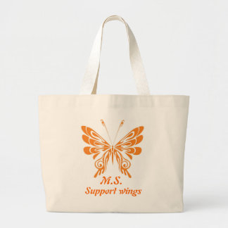 M.S. Butterfly Large Tote Bag