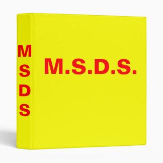 M.S.D.S. Binder