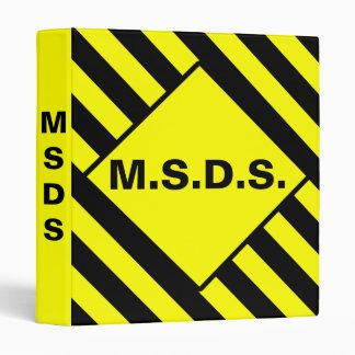 M.S.D.S. Caution Binder