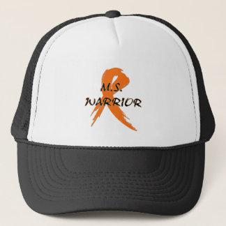 M.S. Warrior words with orange ribbon Trucker Hat