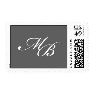 M+Sello del monograma de B - gris