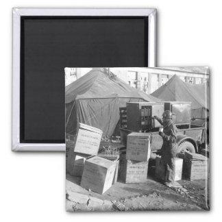 M/Sgt. George Miller selects human blood_War Image Magnet