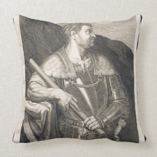 M. Silvius Otho Emperor of Rome 68 AD engraved by Throw Pillows