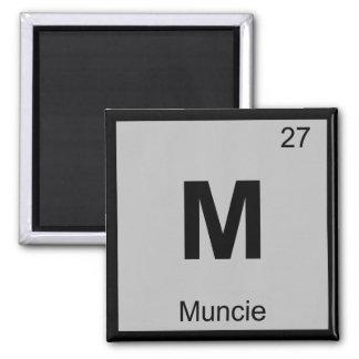 M - Símbolo de la tabla periódica de la química de Imán De Nevera