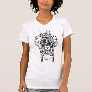 """M-size """"indio"""" blanco de la camiseta de la mujer"""