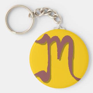 M (Slim Maroon) Keychain