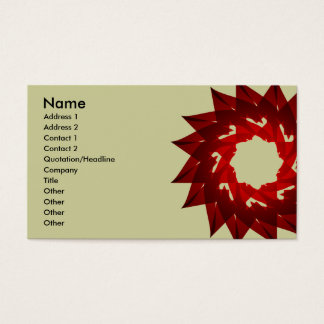 M-Star Red Flower Business Card