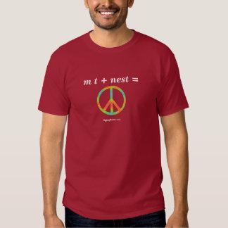 m t + nest = peace tee shirt