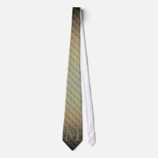 M - The Falck Alphabet (Golden) Tie