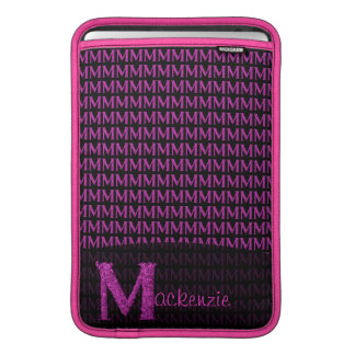 M - The Falck Alphabet (Pink) MacBook Sleeves