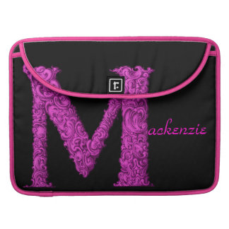 M - The Falck Alphabet (Pink) Sleeve For MacBooks