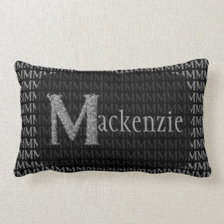 M - The Falck Alphabet (Silvery) Lumbar Pillow