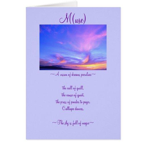 M (uso) tarjeta de felicitación