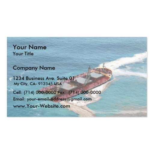 M/V Selendang Ayu Oil Spill Unalaska 2004 Business Card