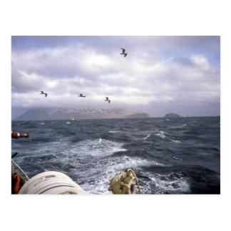 M/V Tiglax, storm at sea 1990 Postcard