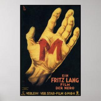 M Vintage 1931 Movie Poster