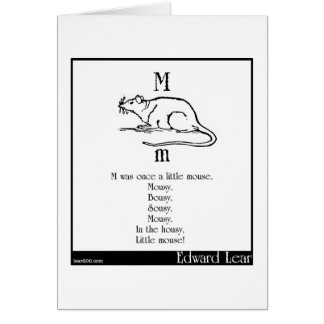M was once a little mouse greeting cards