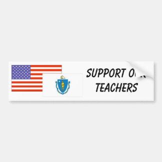 MA--Apoye a nuestros profesores Pegatina Para Auto