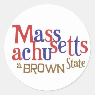 MA Brown State - Massachusetts' Sen. Scott Brown Classic Round Sticker