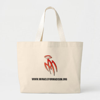 MA - logo, WWW.MIRACLEFORMADISON.ORG Canvas Bags