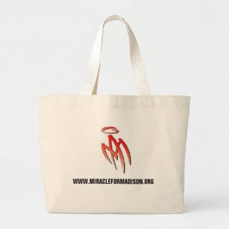 MA - logotipo, WWW.MIRACLEFORMADISON.ORG Bolsa Tela Grande