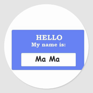 Ma Ma Classic Round Sticker