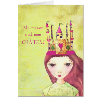 ma maison, c'est mon château,french we've moved card
