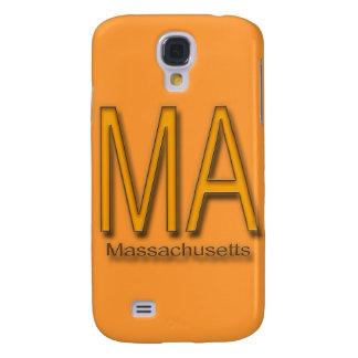 MA Massachusetts orange Samsung Galaxy S4 Case