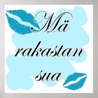 Mä rakastan sua - Finnish I love you Poster