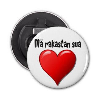 Mä rakastan sua - I love you in Finnish Bottle Opener