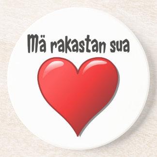 Mä rakastan sua - I love you in Finnish Drink Coaster