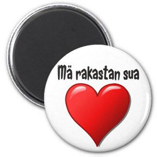 Mä rakastan sua - I love you in Finnish Magnet