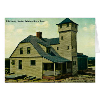 MA Salisbury Beach Life Saving Station Postcard