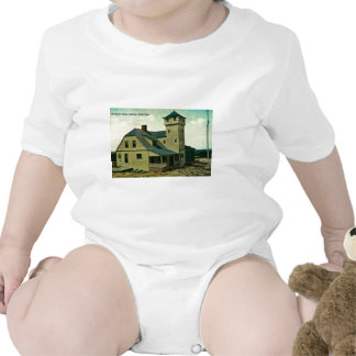 MA Salisbury Beach Life Saving Station Postcard Baby Bodysuit